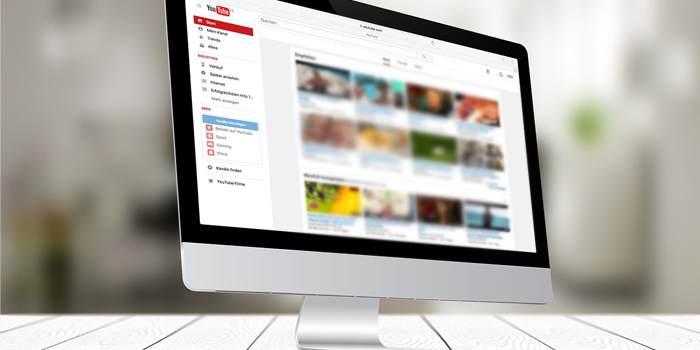 youtube aperto su schermata pc