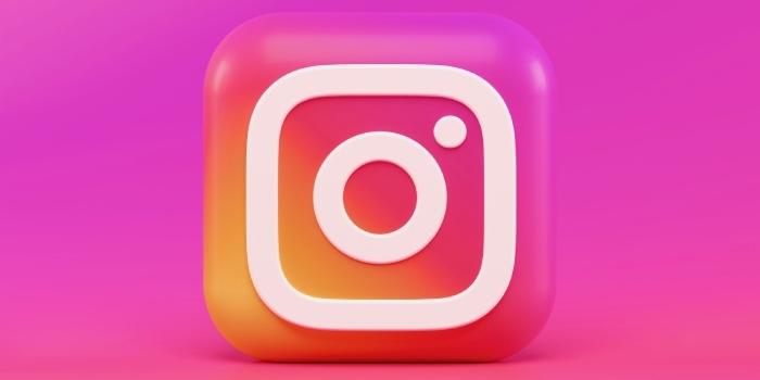 logo di instagram aziendale in primo piano